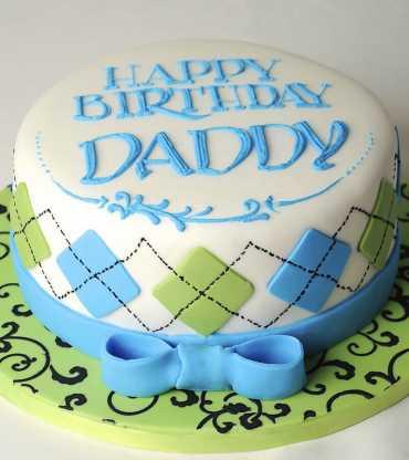 Blue Ribbon Fathers Day Cake