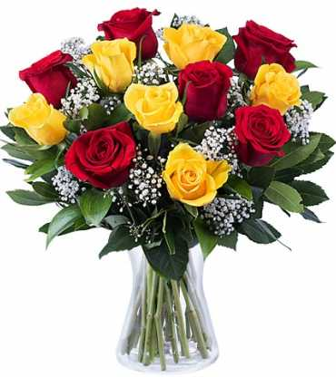 6-yelow-roses-6-red-roses