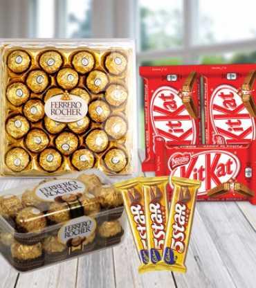 Amazing Love - Combo of Rochers, Kitkat, 5 Star