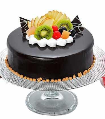 Chocolate Truffle Fruit Cake