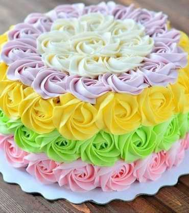 Colorful Rose Pineapple Cake