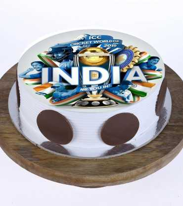 Cricket Theme Photo Cake