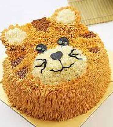 Cute Tiger Theme Chocolate Cake