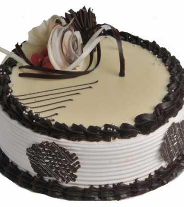 Delectable Choco Vanilla Birthday Cake