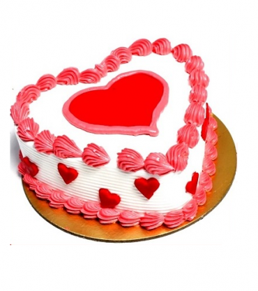 Delicious Strawberry Heart Shape Love Cake