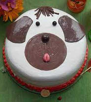 Dog Face Theme Cake