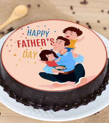 Fathers Day Poster Cake