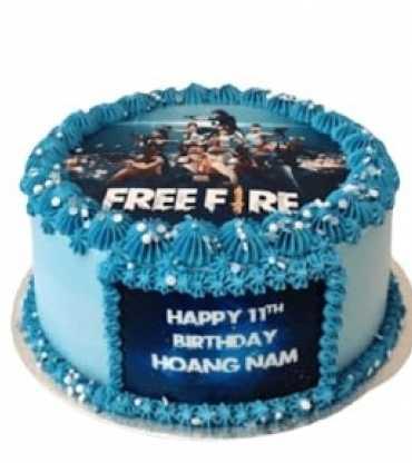Free Fire Photo Cake