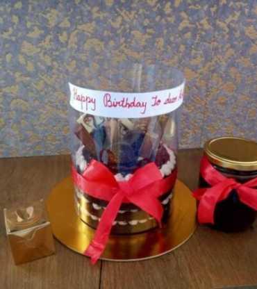 Happy Birthday Pull Up Cake