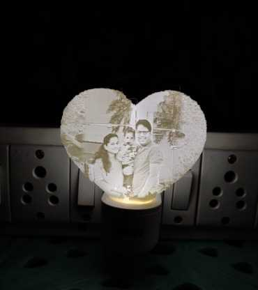 Customised Heart Magic Photo Night Light plug type Lithophane