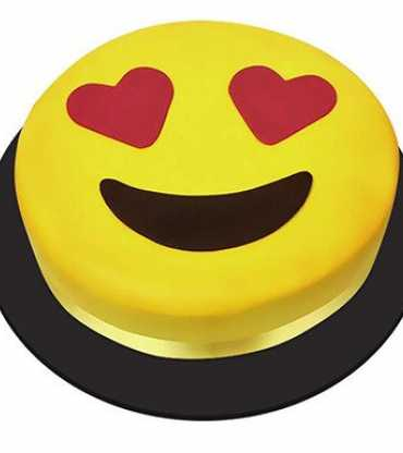 Heart Eye Emoji Cake