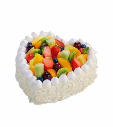 Heart Shape Fruit Cake