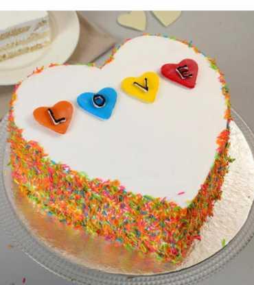 Designer heart shape cake