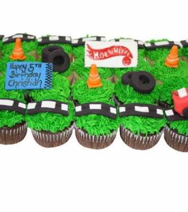 Hot Wheels Race Track Cupcake