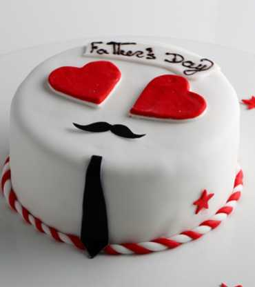 Love Fondant Father's Day Cake