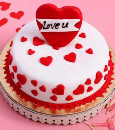 Love Hearts Designer Cake