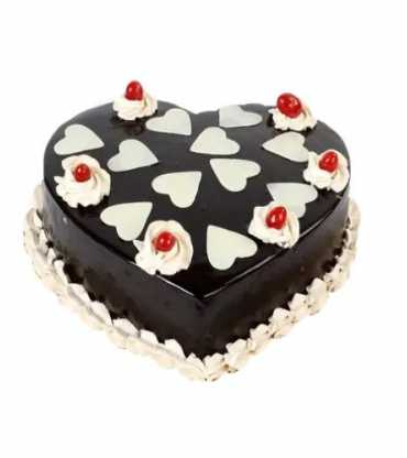 Lovely Heart Shape Chocolate Cake