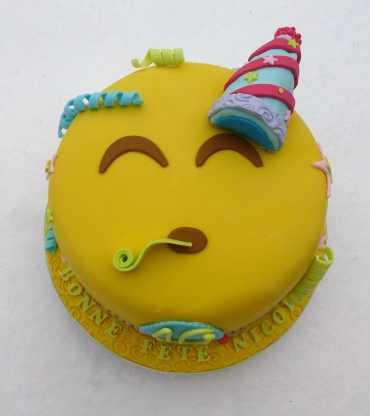 Party Emoji Cake