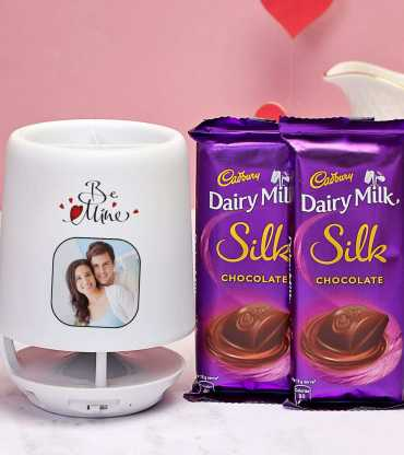 Personalized Pen Stand Speaker with Dairy Milk Silk