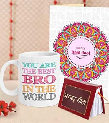 Personlised Mug with Bhagvat Geeta and Card