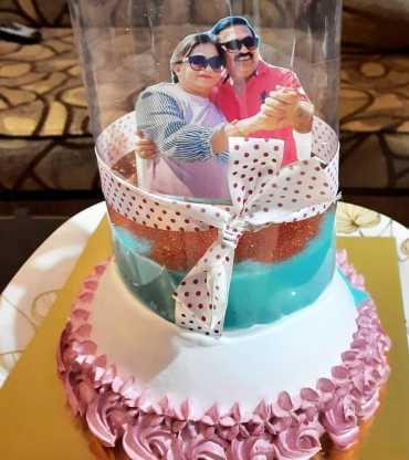 Photo Pull Up Cake