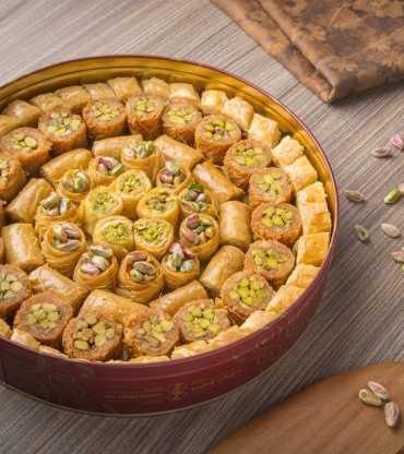 Pistachio Filled Baklava Sweets