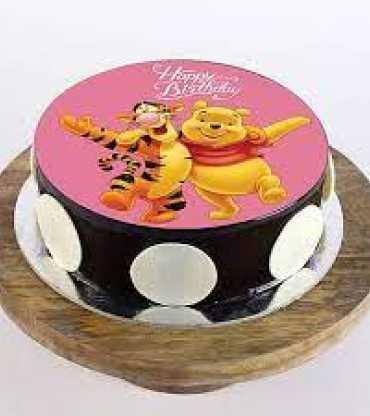 Pooh And Tigger Photo Cake