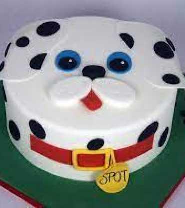 Puppy Dog Fondant Cake