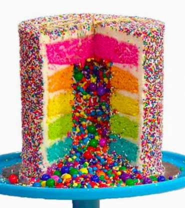 Rainbow Pull Me Up Cake