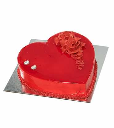 Valentine Special Red Heart Shape Cake