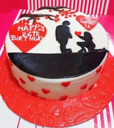 Red Velvet  Round Shape Cake