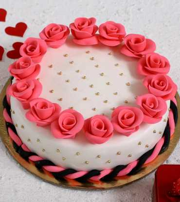 Roses Round Designer Truffle Cake