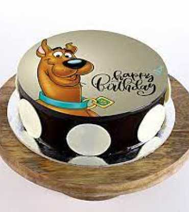 Scooby Doo Photo Cake
