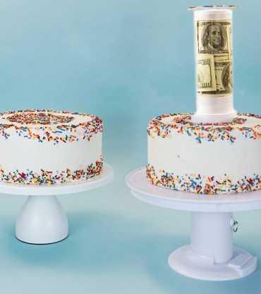 Money Secret Gift Pull Up Cake