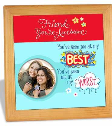 Special Personalized Wooden Tile For Friend