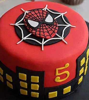 Spiderman Fondant Round Cake