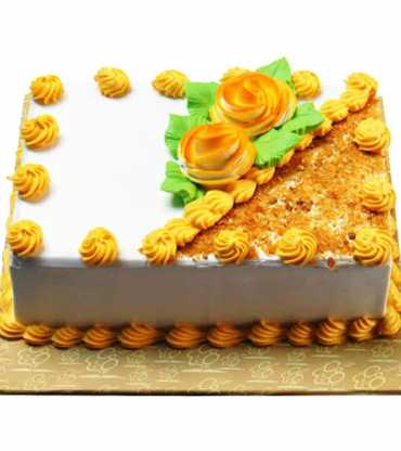 Square butterscotch cake