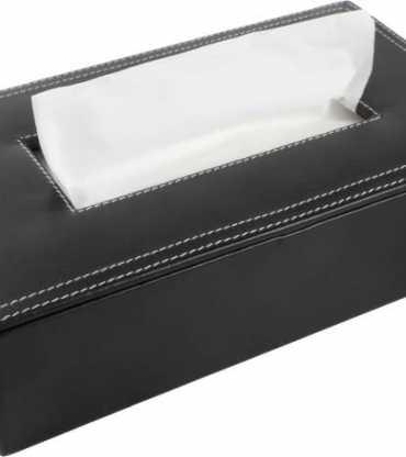 Leather Tissue Holder Box