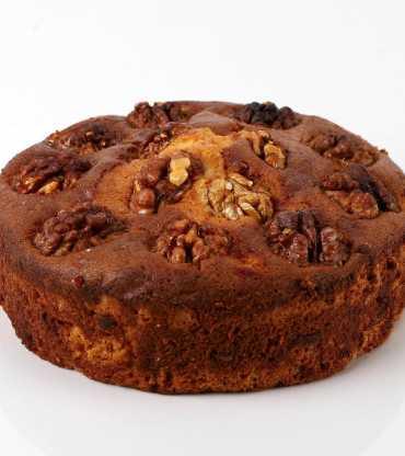 Crunchy Walnut Plum Cake