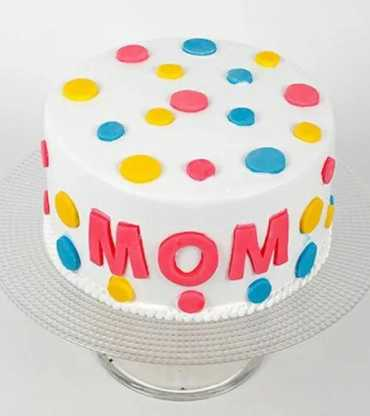 Colorful Mother's Day Chocolate Cake