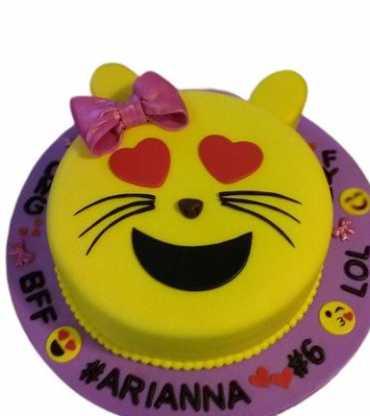 Cat Face Emoji Cake