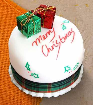 Christmas Presents Fondant Cake