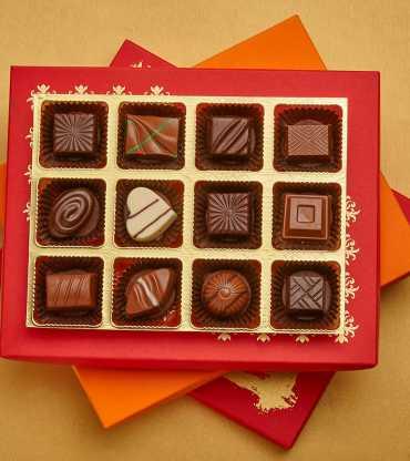 Classic Chocolate Truffles Joy Box Of 12