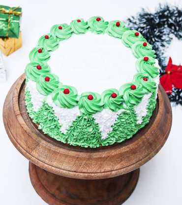 Cream Christmas tree Cake