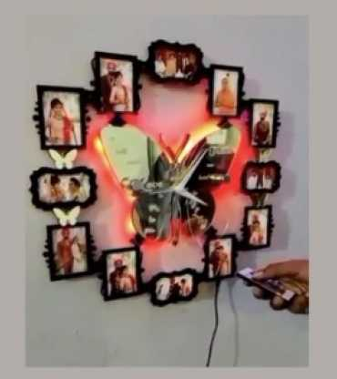 customised Wall Clock With Remote Control LED