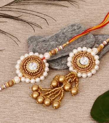 Lumba rakhi  Set for  bhaiya or  Bhabhi