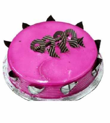 The dark purple Vanilla Cake