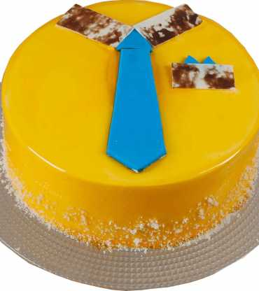 Father's day tie and pocket design Mango cake