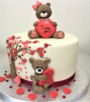 I Love You Teddy Cake