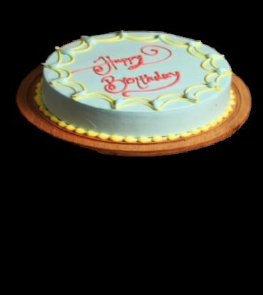 Sweet Vanilla Happy Birthday Cake